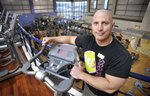 Ready for the challenge: Fitness trainer Rob Preston at 24/7 Fitness in Kidderminster.