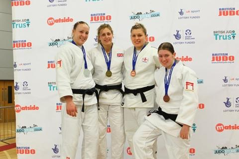 Success: Laura Dangerfield (right) won bronze at the British Senior Championships