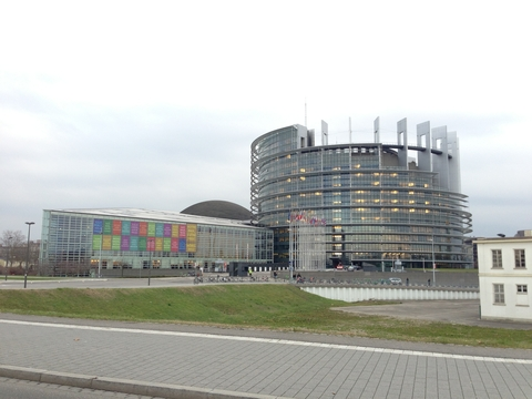 'Flying circus': The EU Parliament in Strasbourg, France.