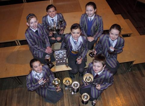 Recognition: Students from Holy Trinity International School bagged a host of medals at Wyre Forest Swimming Club's presentation evening.