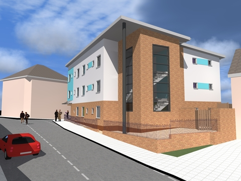 Building the future: How the £1.6 million Bromsgrove Street Foyer will look when complete.