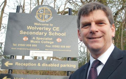 Celebrating success: Wolverley headteacher Richard North.
