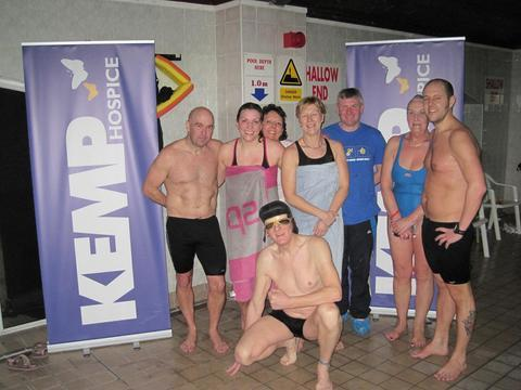 Making a splash: Swimathon fundraisers at the Sebastian Coe Health Club.