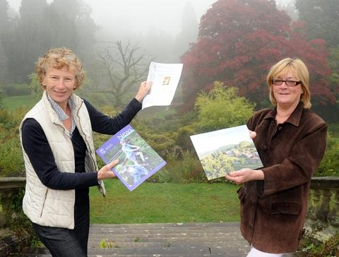 Restoring Abberley: Fiona Paterson, left, and Jo Roche in the grounds.