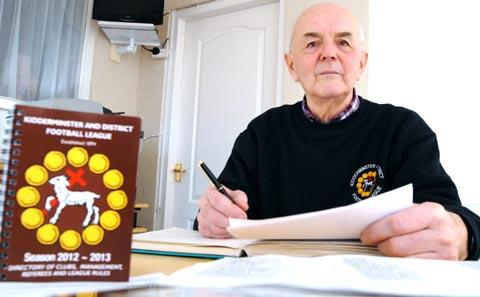 Time to sign up: Kidderminster and District League chairman Ernie Pyke wants teams to join the Saturday Premier. Picture: Miriam Balfry.