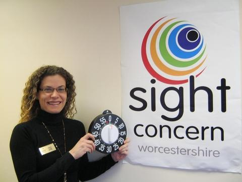 Appeal launch: Jenny Gage, chief officer of Sight Concern.