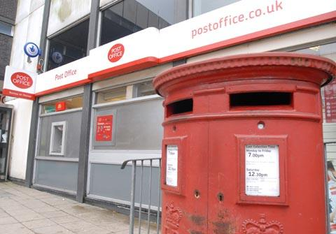 Shake-up plans The post office in Kiddeminster.