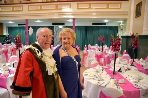 Charity night: Mayor John Aston with Mayoress Madeleine Craddock. Photo: Colin Hill.
