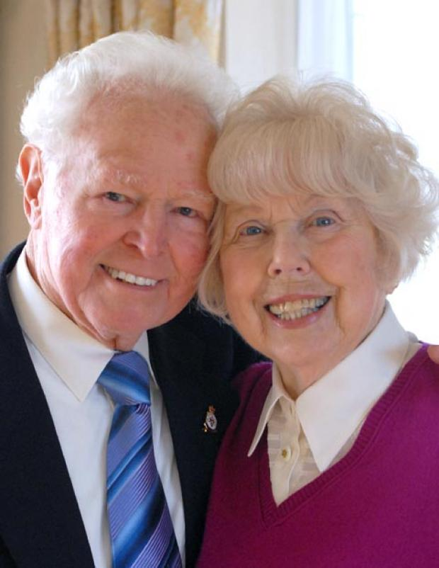 Diamond couple: Tony and Brenda Kerigan.