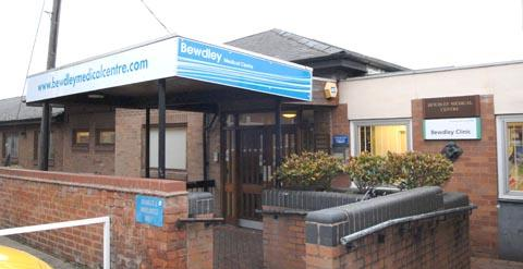 On track: Bewdley Medical Centre.