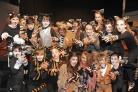 Purrfect: Abberley Hall pupils are transformed into cats for their school musical.