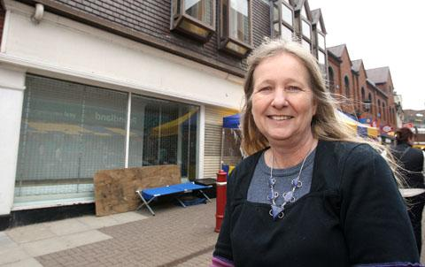 For the kids: Anne Barker at the site where she will be opening the youth cafe.