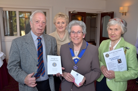 eWheel of fortune: From left, David Wase, chairman of the League of Friends, with Inner Wheel Club members June Davis, Marion Bedford and Ann Ward. Photo: Colin Hill.