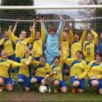 Ladies Triumph in their third cup final.