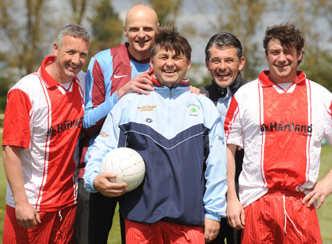 Happier days: Wyre Forest's Darren Raybold, James Chapman, Joe Wassell, Ray Birch and Jack Wassell.
