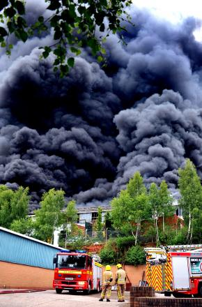 HEALTH CONCERNS: Last year's fire at Lawrence Recycling burned for seven-and-a-half weeks. Photo: JOHN ANYON.