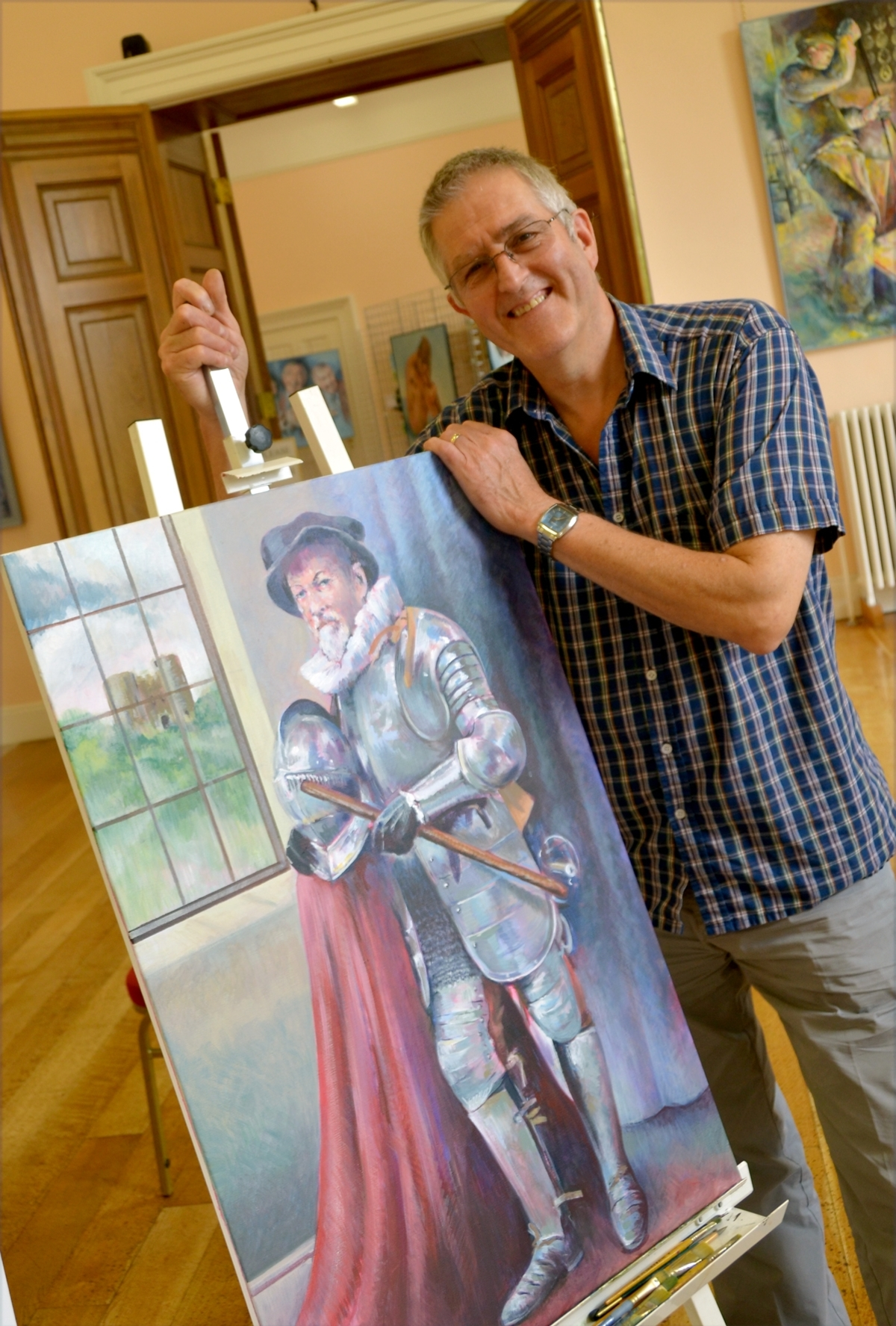 On show: Birmingham-born artist Keith Turley will be speaking at Kidderminster Art Society. Photo: Colin Hill.