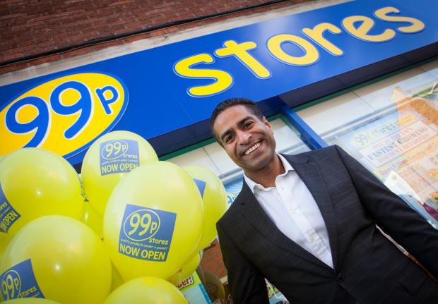Kidderminster Shuttle: Opening soon: Hussein Lalani, outside one of his stores.