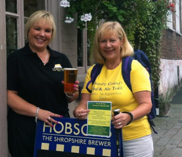 Drink up: Wendy Chadwick, manager at the Kings Arms and organiser of the Beer and Music festival with Carol Franklin, of the food and ale trail.