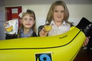 Fairtrade pledge: Eco council members Trinity Hall, 6 and Beatrice Smith, 9.