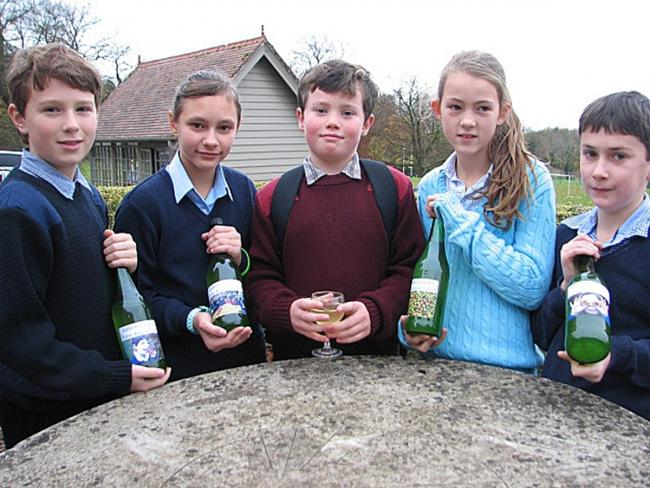 Core product: From left, with the apple juice, James Middlemass, Alina Jones, Guy Wilson, Poppy Henderson and Richard Cooke.