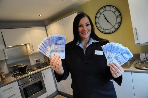 Cash offer: Taylor Wimpey sales executive Claire Harpur is looking for a Wyre Forest good cause to receive a £500 boost.