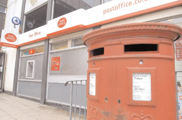 Relocating: The post office in Kidderminster which will be closed down and moved into WH Smith.
