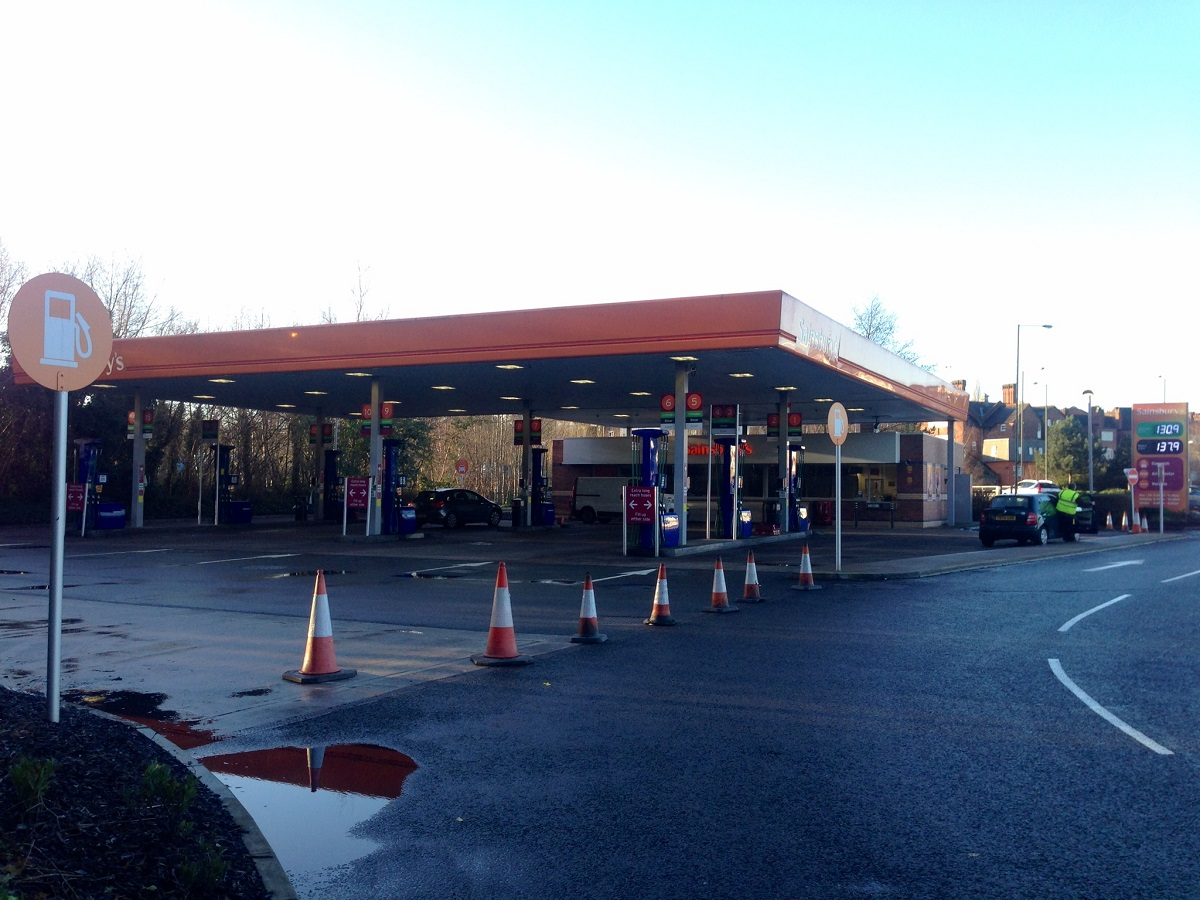 The petrol station that was targeted in an attempted robbery.