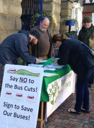 In Bewdley: Nearly 1,000 people have signed the Save Our Buses campaign.