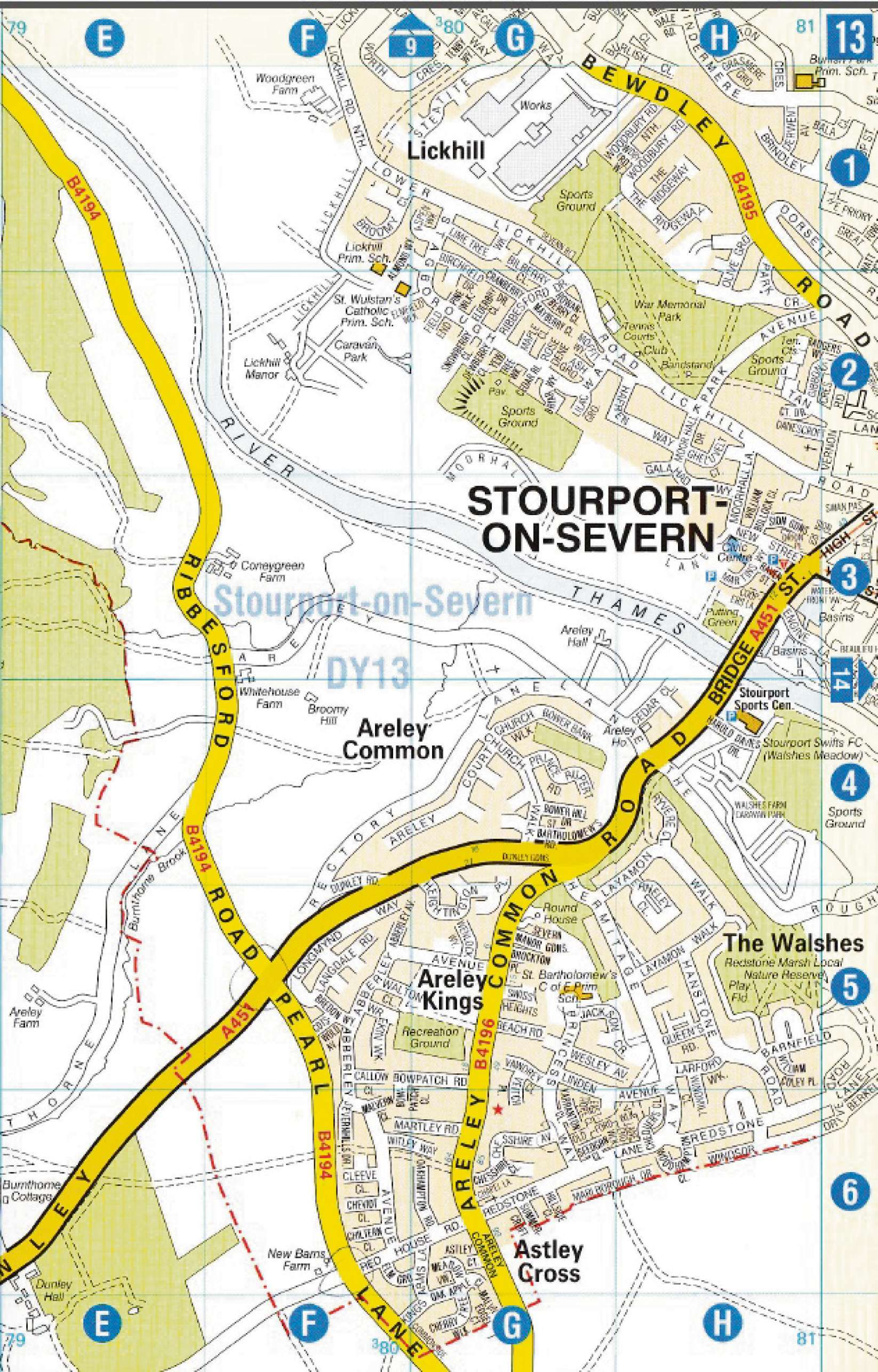 The clue's in the name: Stourport-on-Severn on the banks of the River Thames.