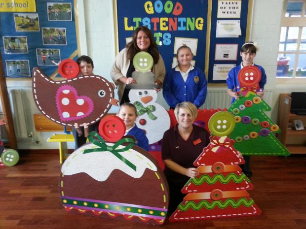 Sainsbury's donate decorations to a good home