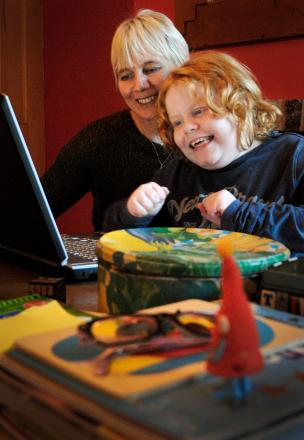 School plea: Donna Reid with her son Liam, who has a complex condition and is desperate to get into a school.