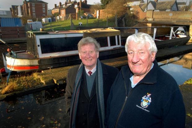 Kidderminster Shuttle: On board: David Little and Michael Freeman with Bramble.