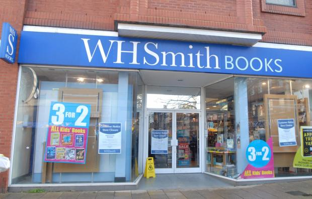 Closing down: The WH Smith book shop in Kidderminster.