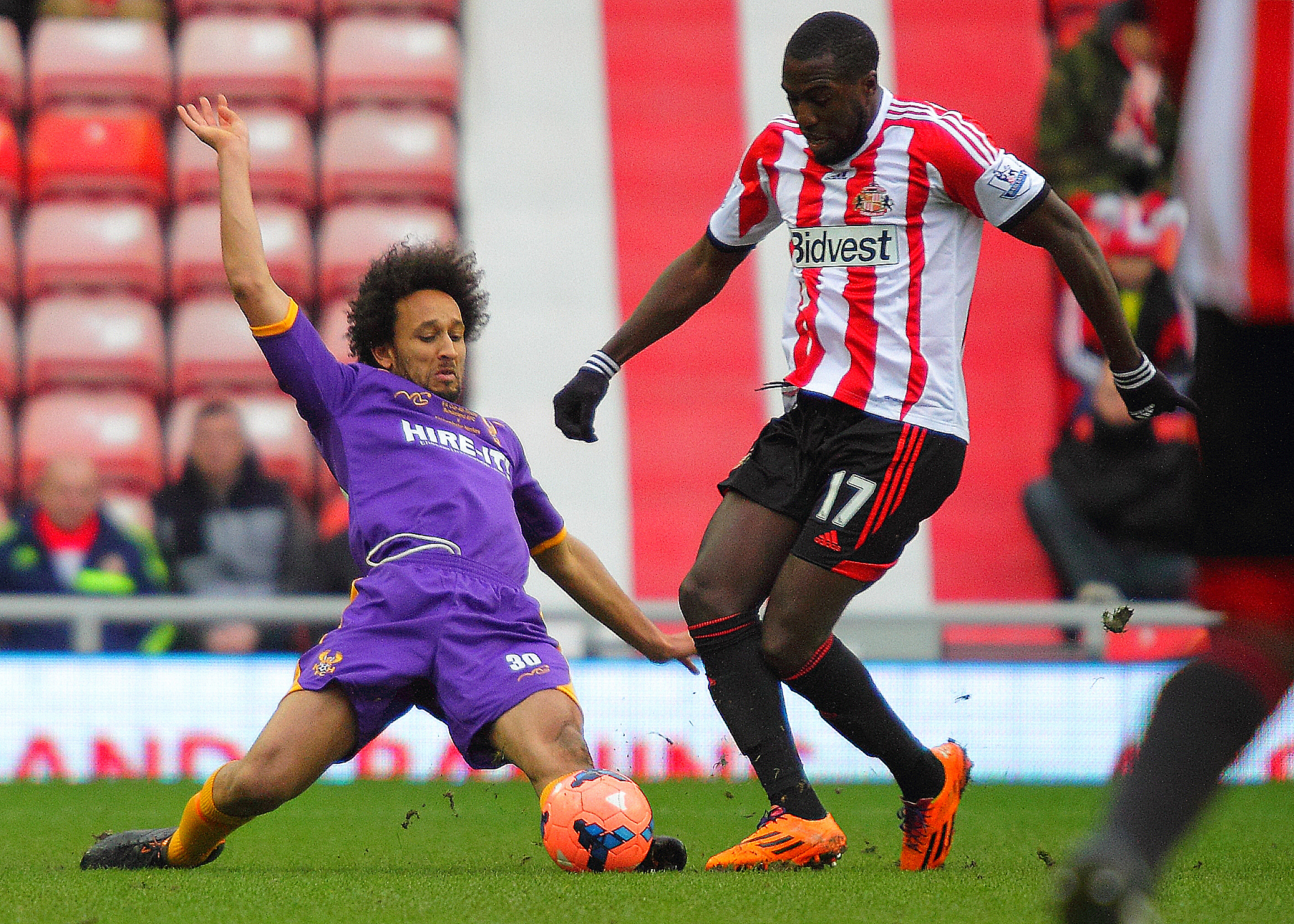 Josh Gowling denies Sunderland's Jozy Altidore with a well-timed challenge. Picture: ADRIAN HOSKINS