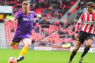 Michael Gash has Harriers' best chance at Sunderland. Picture: ADRIAN HOSKINS