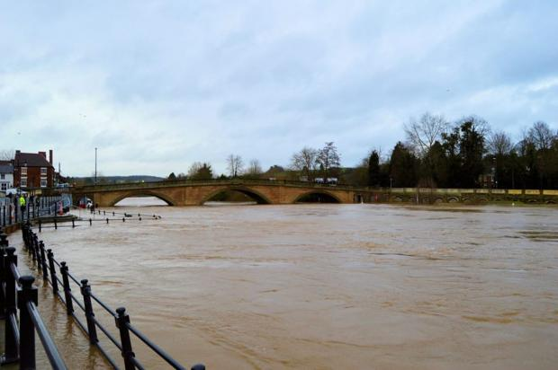 Rising water: The scene in Bewdley: Photo: Sara Louise.