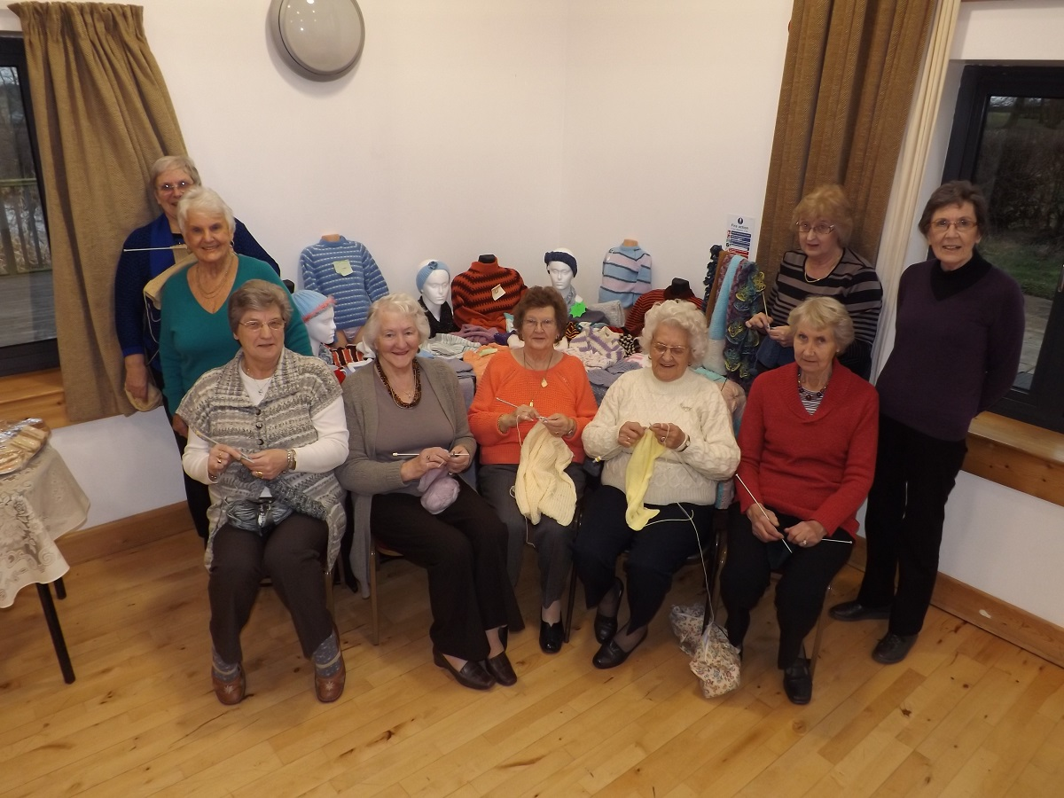 NIMBLE FINGERS: Members of the Rock Knit & Knatter group, who helped raise £800 for the Scanner Appeal.