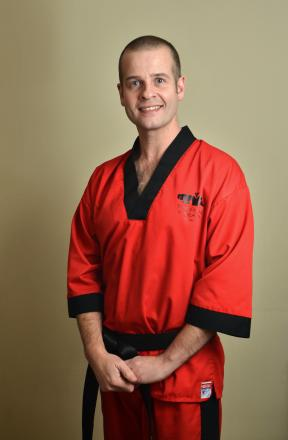 Top billing: Karate fourth dan master Justin Thomas won The Shuttle's Sports Personality of the Year vote with 66 per cent.