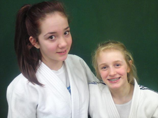 Medal winners: Bryony Griffiths (left) and Darcie Hancocks (right) were in good form at the Northern Home Counties Open