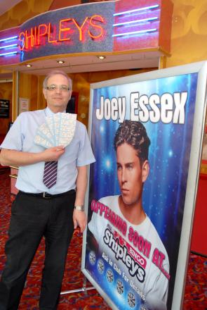 WIN A PLACE: Shipleys bingo club manager David Ross will be hosting a Come Dine With Me special with Joey Essex.