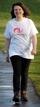 STRIDING OUT: Deborah Hayes, who will be climbing Mount Snowdon for charity.