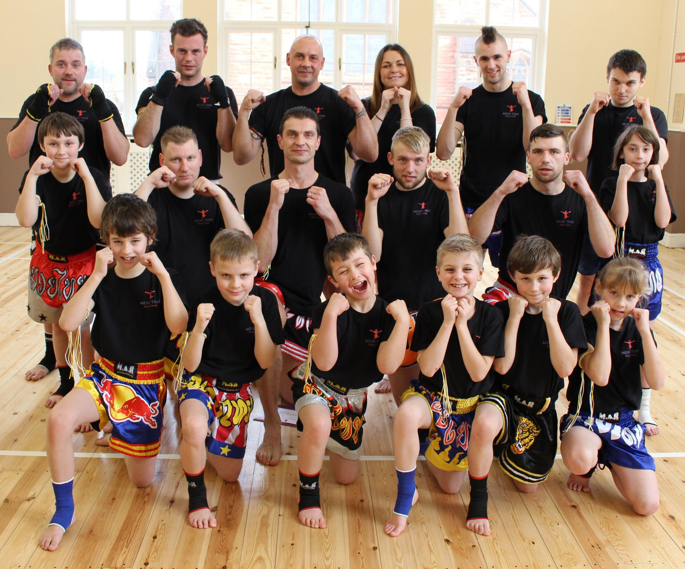Students from the Muay Thai Siam Camps.