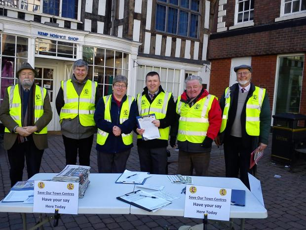 SAVE OUR TOWNS: Wyre Forest UKIP branch members in Bewdley.