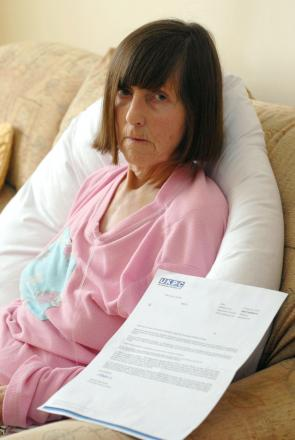 DISGUSTED: Andrea Masterman's mother Beryl Clarke, who was on her first trip out in her wheelchair when they were fined.