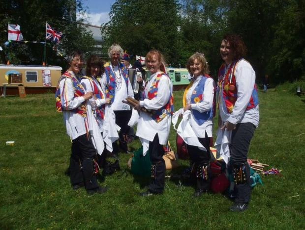 Malvern dentist Ken Sutton (right) and the rest of the Jenny Pipes Morris Dancers,