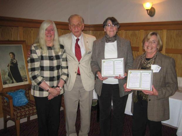 NEW MEMBERS: From left, Maureen Cobb, Don Giles, Barbara Sara and Angela Chipp.