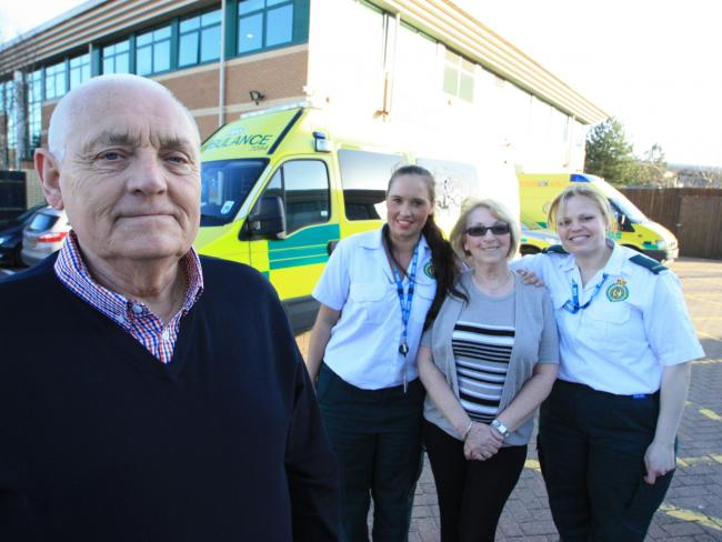 Listen - Caunsall wife's 'life-saving' 999 call. Picture and audio: West Midlands Ambulance Service.