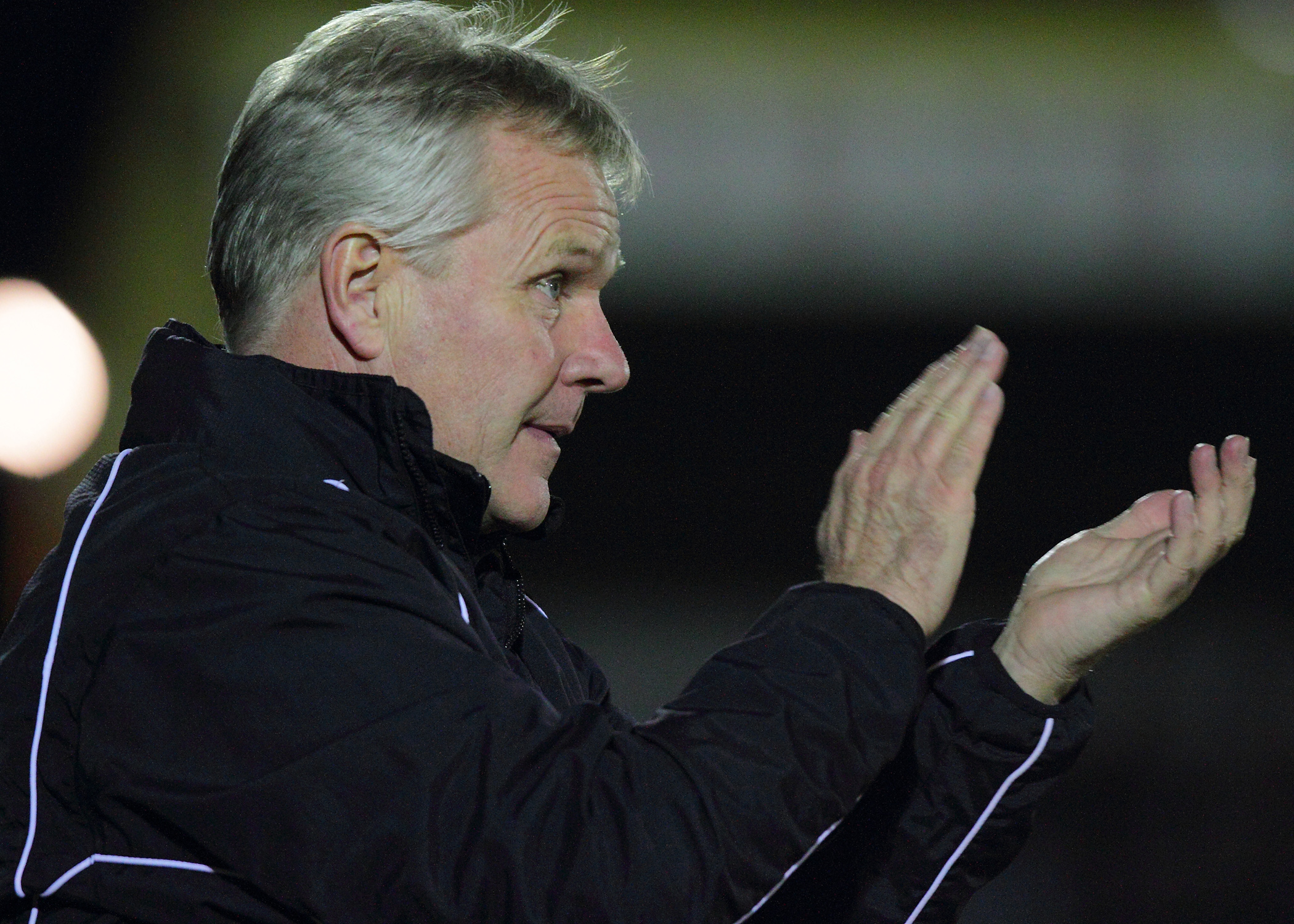 Good start: Gary Whild has guided Harriers to four points in his first two matc