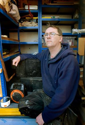 DEVASTATED: Vaughan Lendon-Montrose, who had tools stolen from his van days after being diagnosed with cancer. 1